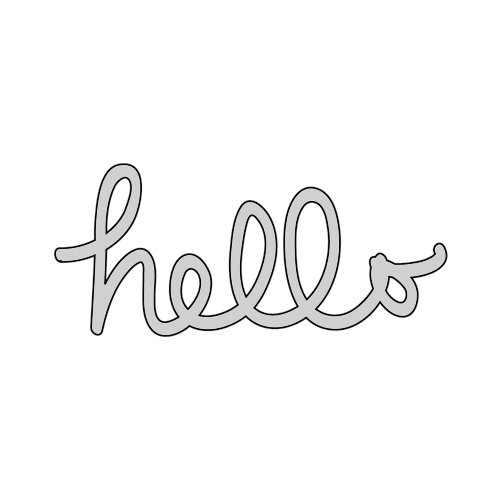 The Crafter's Workshop - Die Cutting Template - Hello