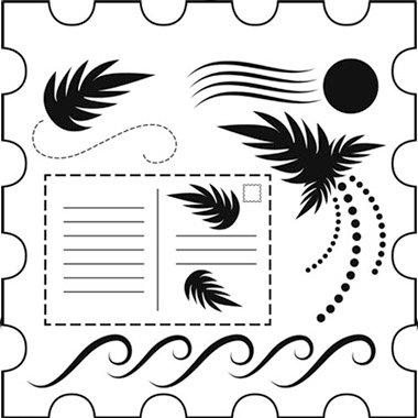 The Crafter's Workshop - 12 x 12 Doodling Templates - Postage Stamp