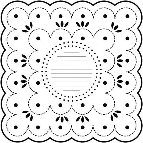 The Crafter's Workshop - 12 x 12 Doodling Templates - Dotted Scallop
