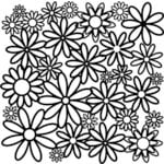The Crafter's Workshop - 12 x 12 Doodling Templates - Daisy Cluster