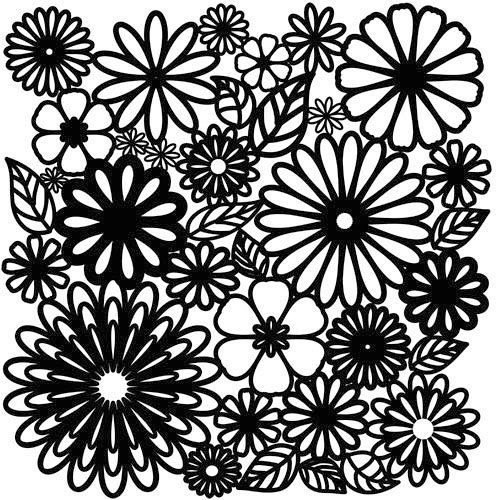 The Crafter's Workshop - 12 x 12 Doodling Templates - Flower Frenzy