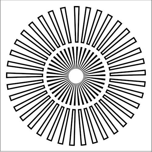 The Crafter's Workshop - 12 x 12 Doodling Templates - Sunburst