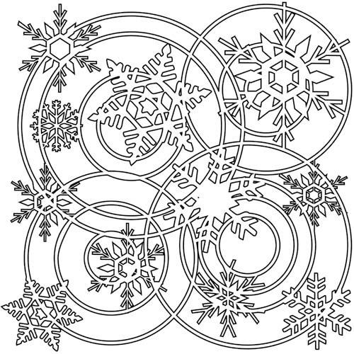 The Crafter's Workshop - 12 x 12 Doodling Templates - Winter Wonderland