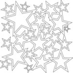 The Crafter's Workshop - 12 x 12 Doodling Templates - Star Shower