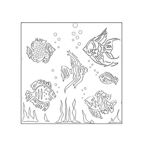 The Crafter's Workshop - 6 x 6 Doodling Templates - Mini Fishies