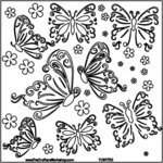 The Crafter's Workshop - 12 x 12 Doodling Templates - Butterflies