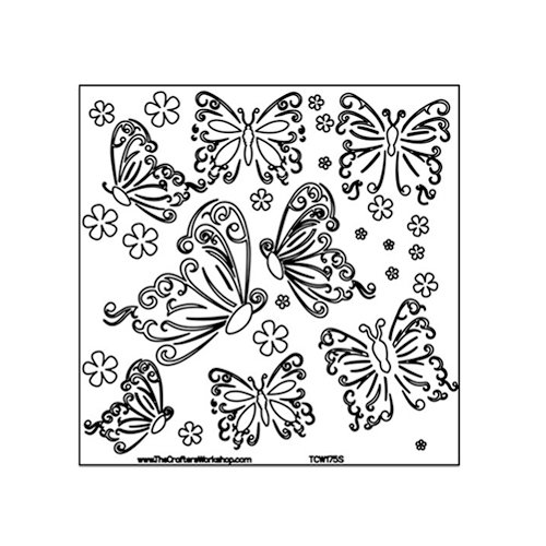 The Crafter's Workshop - 6 x 6 Doodling Templates - Butterflies