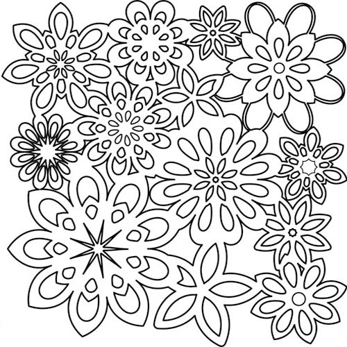 The Crafter's Workshop - 12 x 12 Doodling Templates - Flower Shower