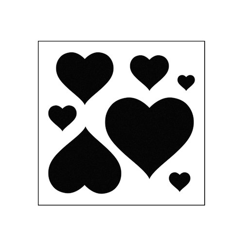 The Crafter's Workshop - 6 x 6 Basic Templates - Mini Hearts