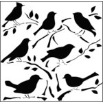 The Crafter's Workshop - 12 x 12 Doodling Templates - Birds