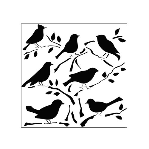 The Crafter's Workshop - 6 x 6 Doodling Templates - Mini Birds