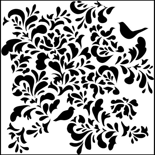 The Crafter's Workshop - 12 x 12 Doodling Templates - Paradise