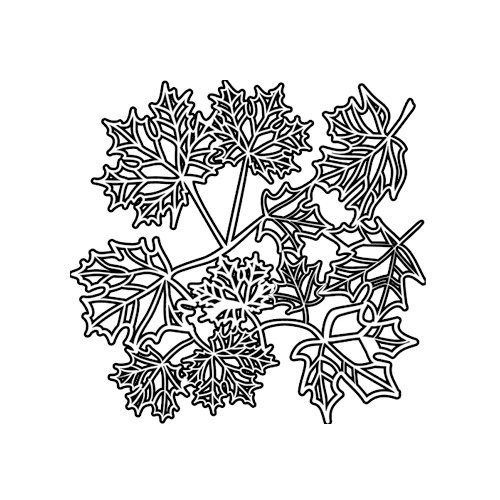 The Crafter's Workshop - 6 x 6 Doodling Templates - Mini Maple Leaves