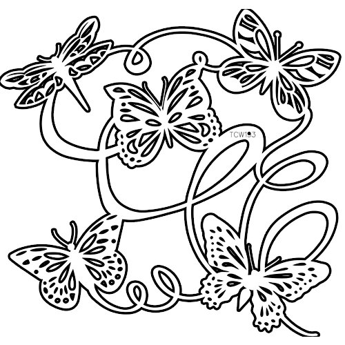 The Crafter's Workshop - 12 x 12 Doodling Templates - Butterfly Ballet