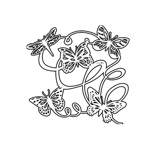 The Crafter's Workshop - 6 x 6 Doodling Templates - Mini Butterfly Ballet