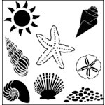 The Crafter's Workshop - 12 x 12 Doodling Templates - Seashells