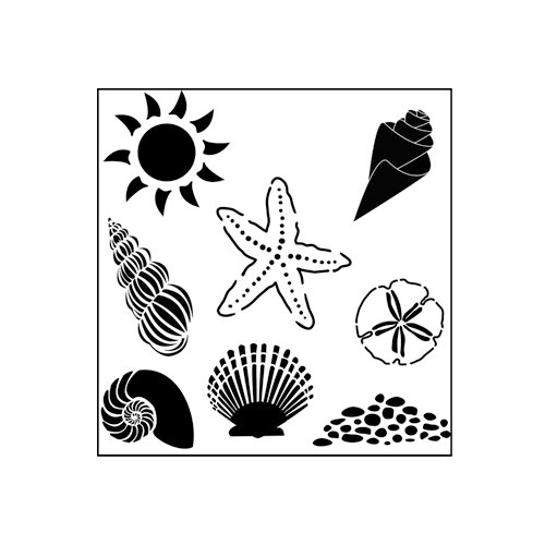 The Crafter's Workshop - 6 x 6 Doodling Templates - Mini Seashells