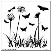 The Crafter's Workshop - 12 x 12 Doodling Templates - Butterfly Meadow