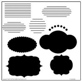 The Crafter's Workshop - 12 x 12 Doodling Templates - Journaling Blurbs
