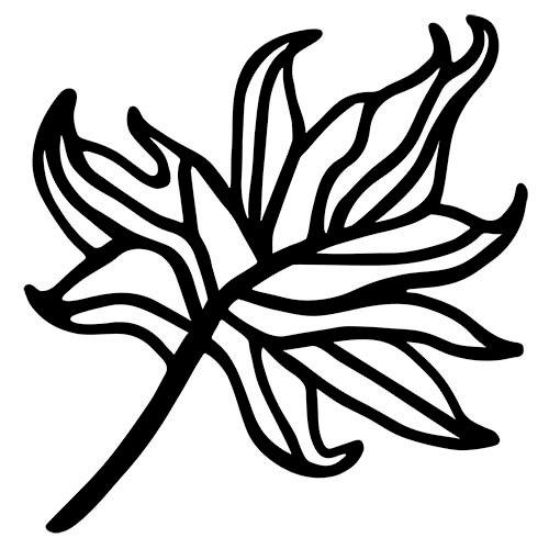 The Crafter's Workshop - Rhonda's Fragments - Doodling Template - Maple Leaf Fragments