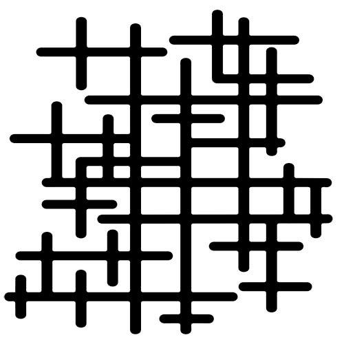 The Crafter's Workshop - Rhonda's Fragments - Doodling Template - Crosshatched Fragments