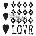 The Crafters Workshop - Rebekah Remnants - Doodling Template - Love Remnant