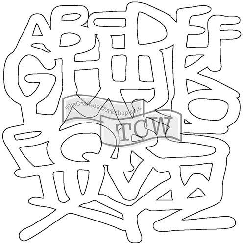 The Crafters Workshop - Balzer Bits - Doodling Template - Graffiti Bit