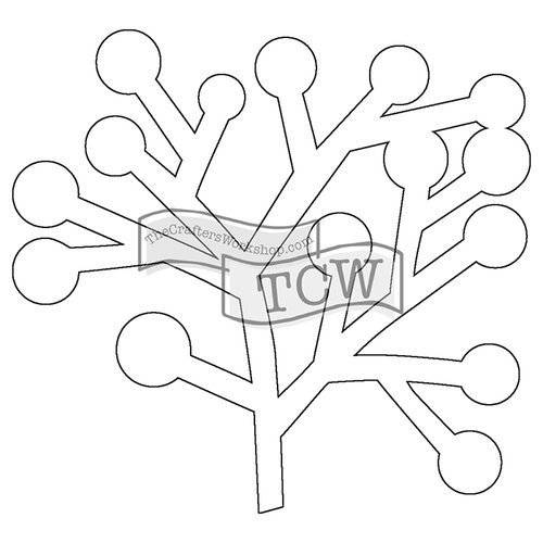 The Crafters Workshop - Balzer Bits - Doodling Template - Berry Branch Bit