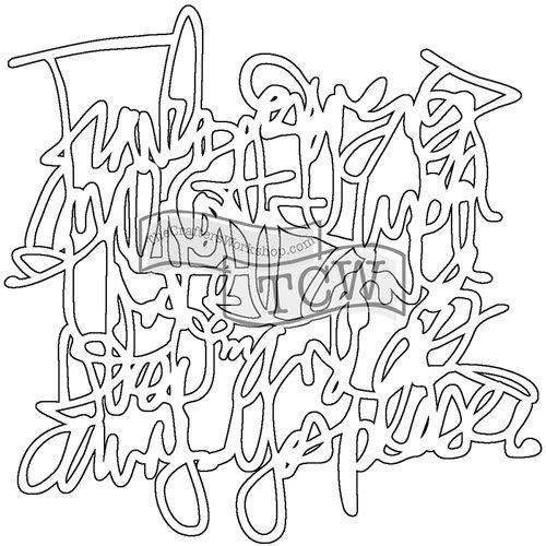The Crafters Workshop - Balzer Bits - Doodling Template - Messy Script Bit