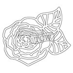 The Crafters Workshop - Rhonda Fragments - Doodling Template - Peony Fragments