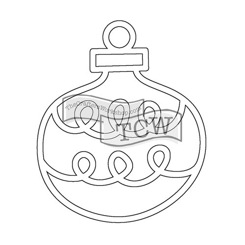 The Crafters Workshop - Rhonda Fragments - Doodling Template - Ornament Fragments
