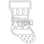 The Crafters Workshop - Rhonda Fragments - Doodling Template - Christmas Stocking Fragments
