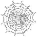 The Crafters Workshop - Rhonda Fragments - Doodling Template - Spiderweb Fragments