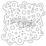 The Crafters Workshop - Rhonda Fragments - Doodling Template - Bubbly Fragments