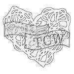 The Crafters Workshop - Rhonda Fragments - Doodling Template - Scribbled Heart Fragment