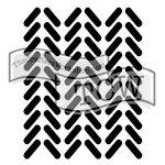 The Crafters Workshop - Rhonda Fragments - Doodling Template - Knit Fragment
