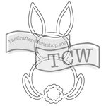 The Crafters Workshop - Rhonda Fragments - Doodling Template - Bunny Fragment