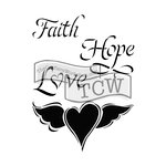 The Crafters Workshop - 6 x 9 Doodling Templates - Faith Hope Love