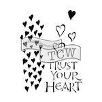 The Crafters Workshop - 6 x 9 Doodling Templates - Trust your Heart