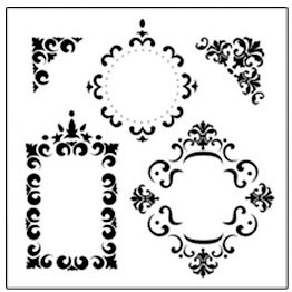 The Crafter's Workshop - 12 x 12 Doodling Templates - Fancy Frames