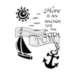 The Crafters Workshop - 6 x 9 Doodling Templates - Hope is an Anchor