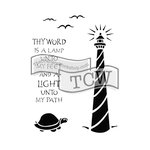 The Crafters Workshop - 6 x 9 Doodling Templates - Lighthouse