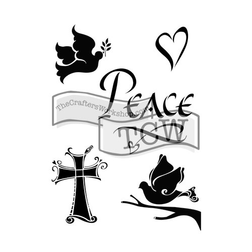 The Crafters Workshop - 6 x 9 Doodling Templates - Peace