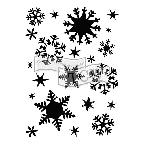 The Crafter's Workshop - A7 Doodling Templates - Flakes