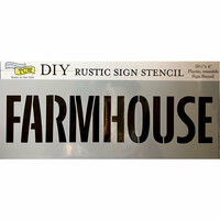 The Crafter's Workshop - 16.5 x 6 Rustic Sign Stencil - Farmhouse