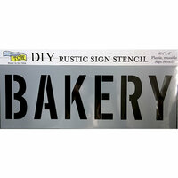 The Crafter's Workshop - 16.5 x 6 Rustic Sign Stencil - Bakery