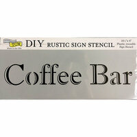The Crafter's Workshop - 16.5 x 6 Rustic Sign Stencil - Coffee Bar