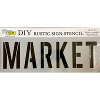 The Crafter's Workshop - 16.5 x 6 Rustic Sign Stencil - Market