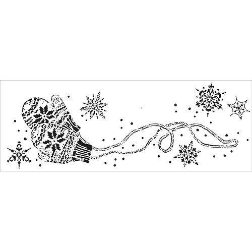 The Crafter's Workshop - Stencils - Snowy Mittens