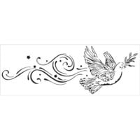 The Crafter's Workshop - Stencils - Peace Dove